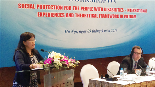 Social protection for people with disabilities – international experiences and theoritical framework in Vietnam